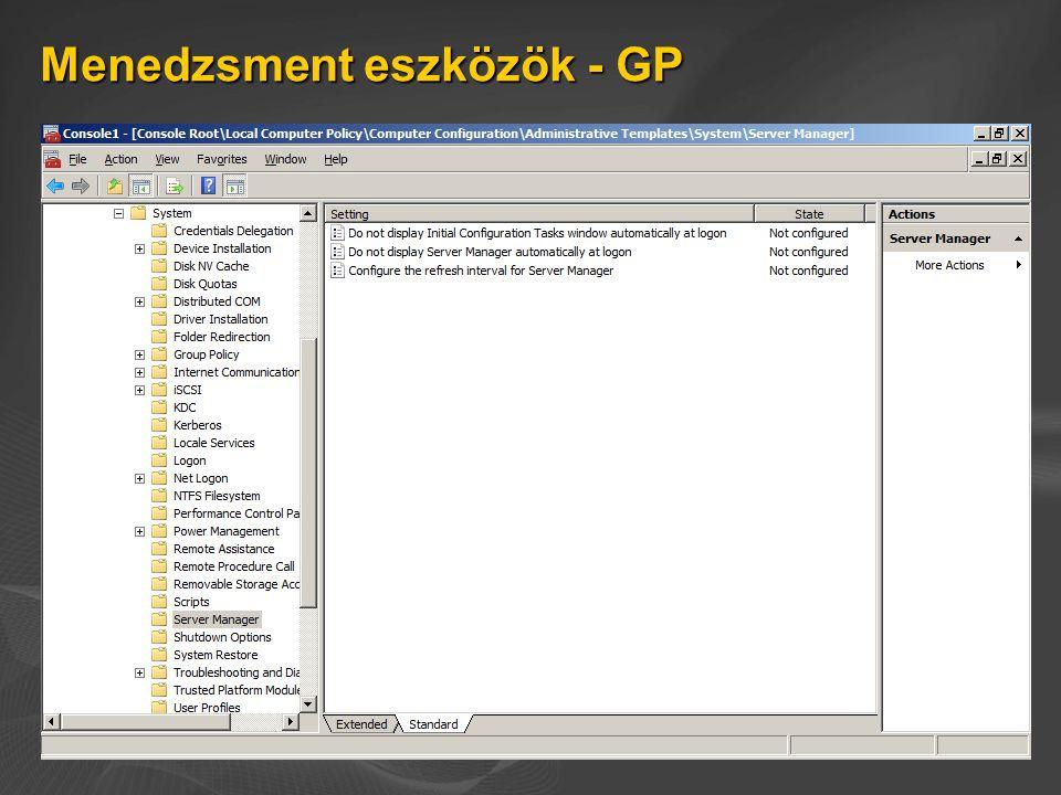 Menedzsment eszközök - GP