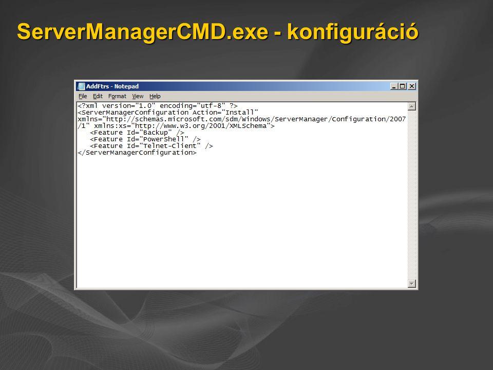 ServerManagerCMD.exe - konfiguráció