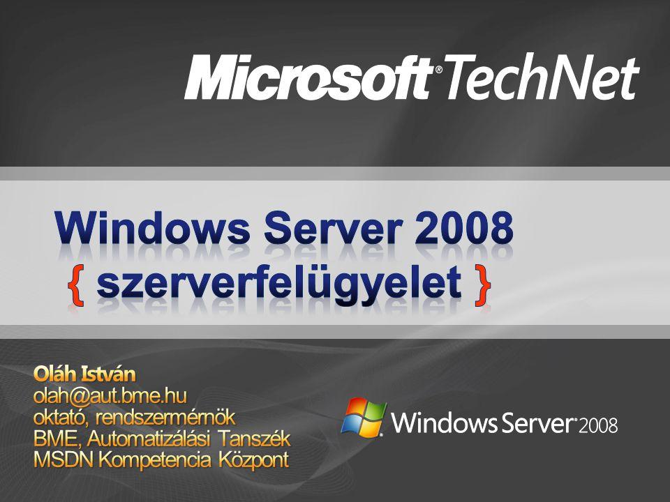 Kezdeti konfiguráció Telepítés utáni beállítások Server Manager Egyszerű, áttekinthető felület Hasznos funkciók Parancssoros elérhetőség