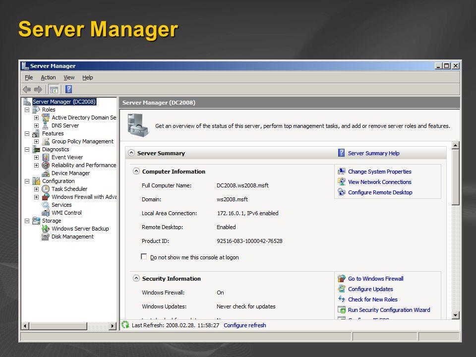 Server Manager - szerepkörök
