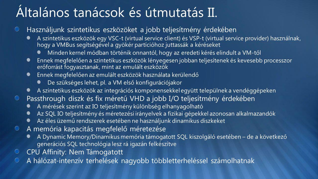 Általános tanácsok és útmutatás II.