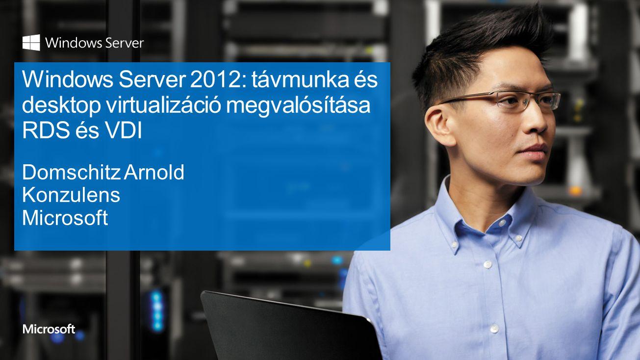 2  Bevezetés  Korszerű távoli elérés a Windows világban  Felépítés, működés, újdonságok Hatékony kezelés és üzemeltethetőség Költséghatékony VDI megoldások Gazdag felhasználói élmény  Kezdő lépések