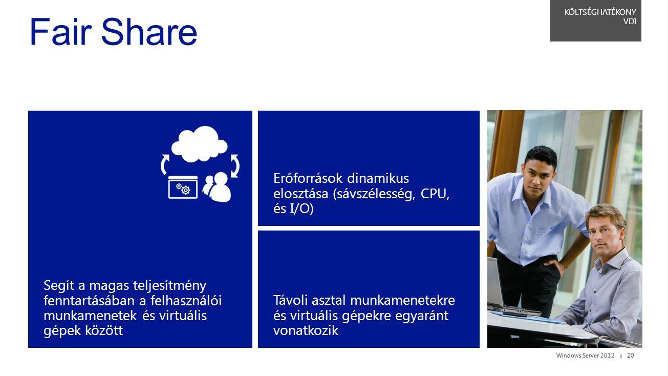Segít a magas teljesítmény fenntartásában a felhasználói munkamenetek és virtuális gépek között Távoli asztal munkamenetekre és virtuális gépekre egya