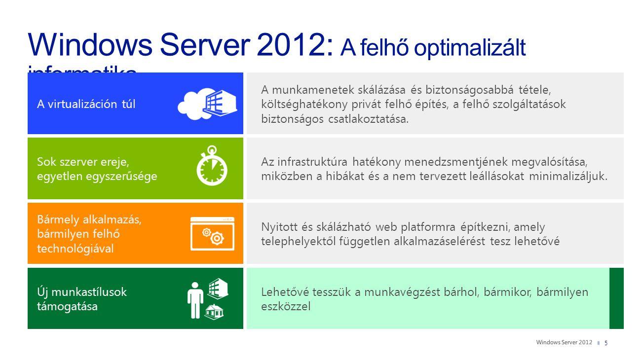 5 A virtualizáción túl A munkamenetek skálázása és biztonságosabbá tétele, költséghatékony privát felhő építés, a felhő szolgáltatások biztonságos csa