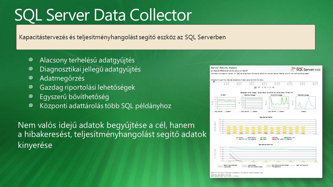 Kapacitástervezés és teljesítményhangolást segítő eszköz az SQL Serverben