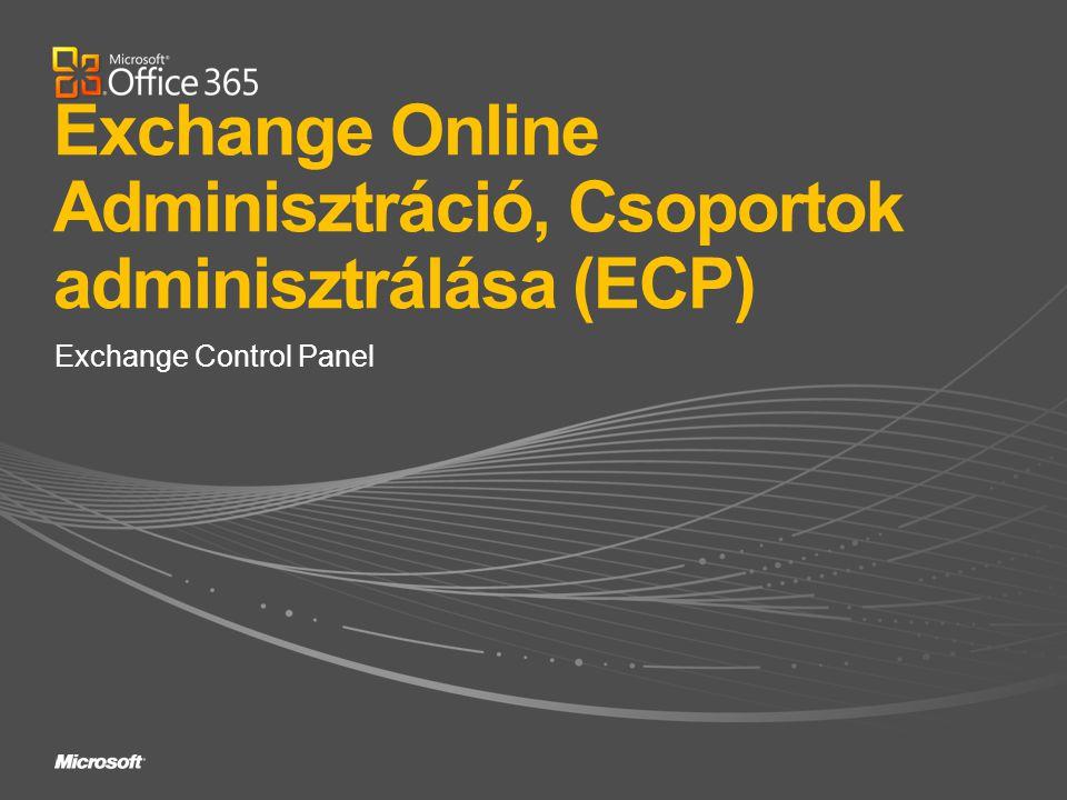 Exchange Control Panel