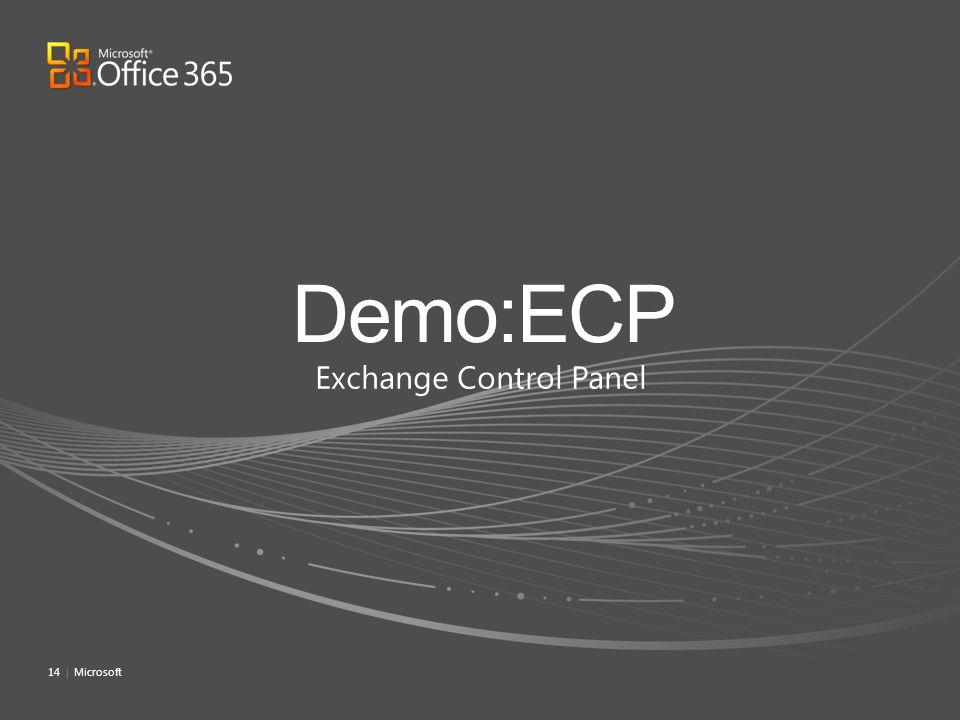 Exchange Control Panel 14 | Microsoft