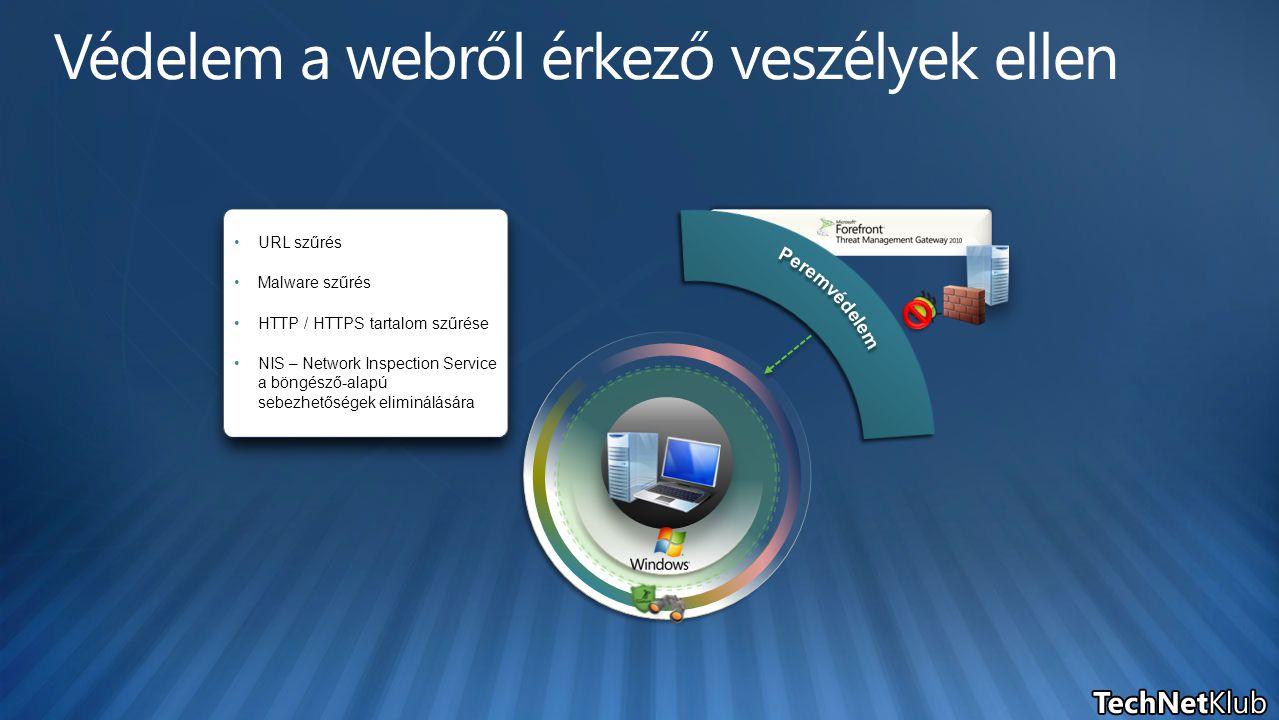 URL szűrés Malware szűrés HTTP / HTTPS tartalom szűrése NIS – Network Inspection Service a böngésző-alapú sebezhetőségek eliminálására