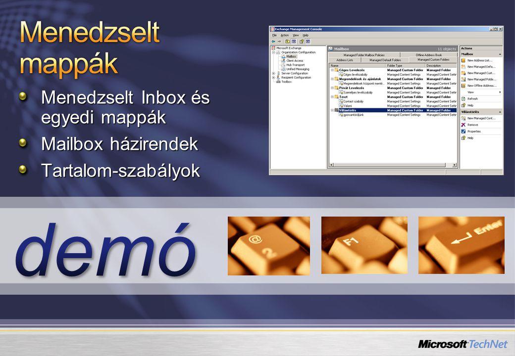 Menedzselt Inbox és egyedi mappák Mailbox házirendek Tartalom-szabályok