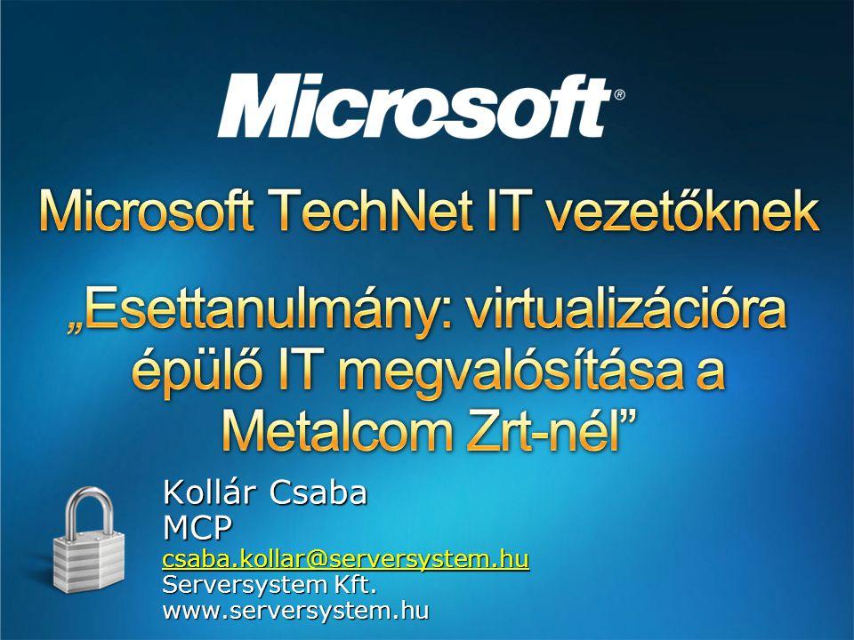 Kollár Csaba MCPcsaba.kollar@serversystem.hu Serversystem Kft. www.serversystem.hu