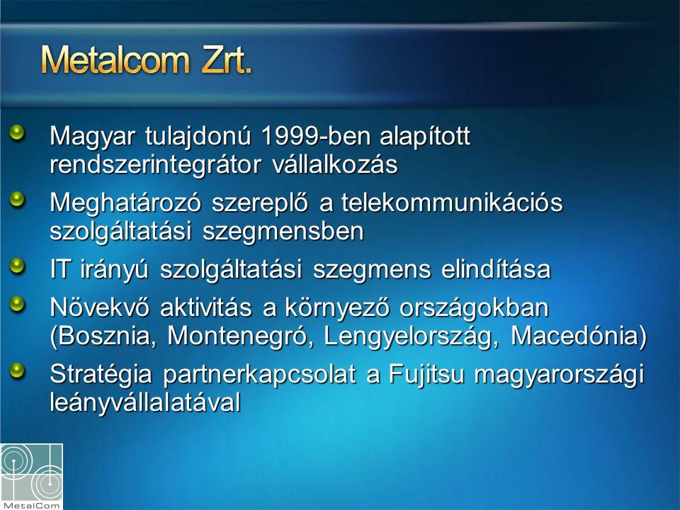 Magyar tulajdonú 1999-ben alapított rendszerintegrátor vállalkozás Meghatározó szereplő a telekommunikációs szolgáltatási szegmensben IT irányú szolgá