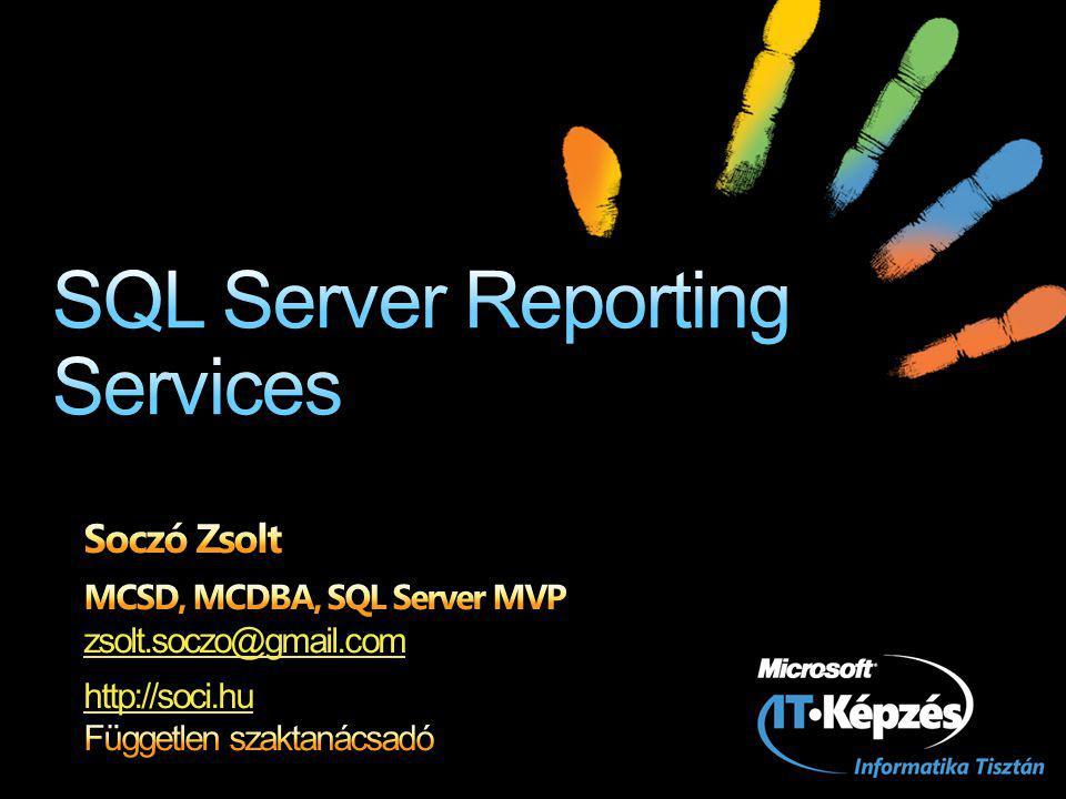MicrosoftReportViewer vezérlő ASP.NET Windows Forms (WPF-ből is) Report Server nélkül is használható Az adatokat nekünk kell összerakni és átadni a vezérlőnek