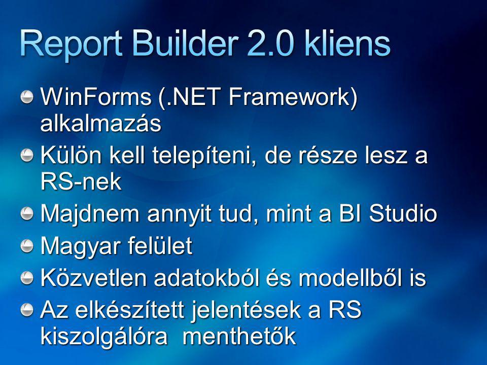 Projekttípus a BI Development Studioban Automatikus modell generálás az adatforrásból Szerkesztés, adatok előkészítése az elemzők részére