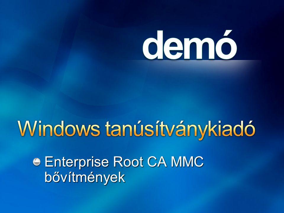Enterprise Root CA MMC bővítmények