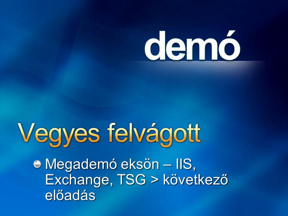 Megademó eksön – IIS, Exchange, TSG > következő előadás