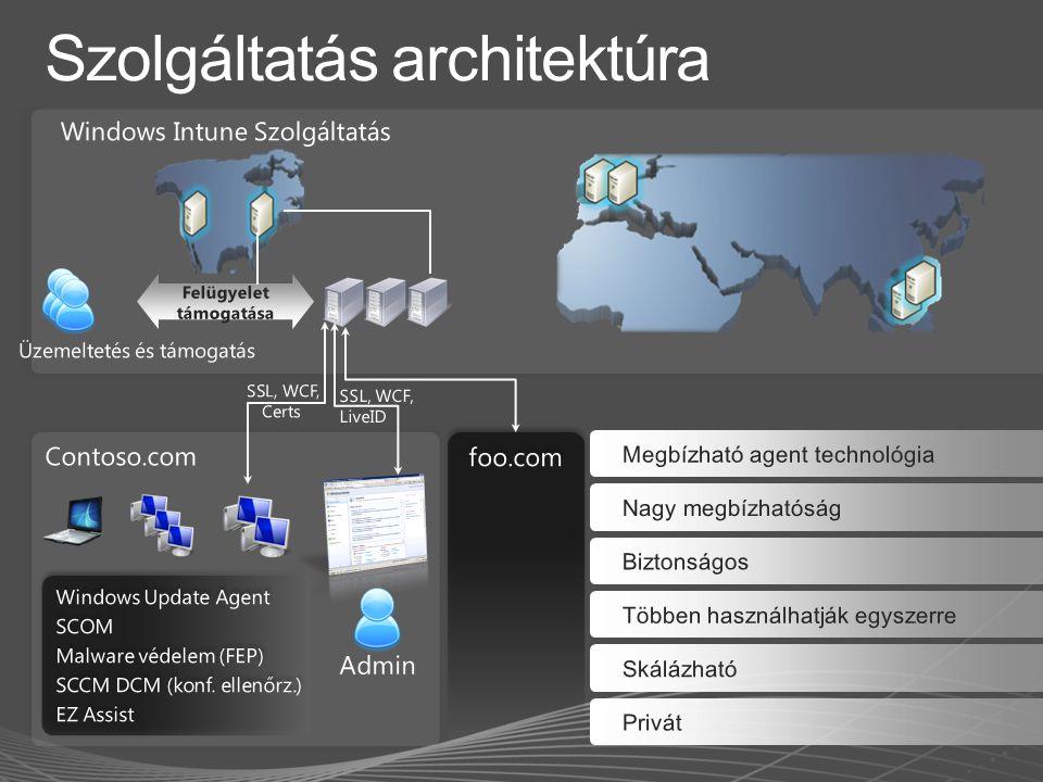 Távoli szoftver telepítés Távoli feladat futtatás (újraindítás, vírus keresés) Bővített beszámolók Pl.