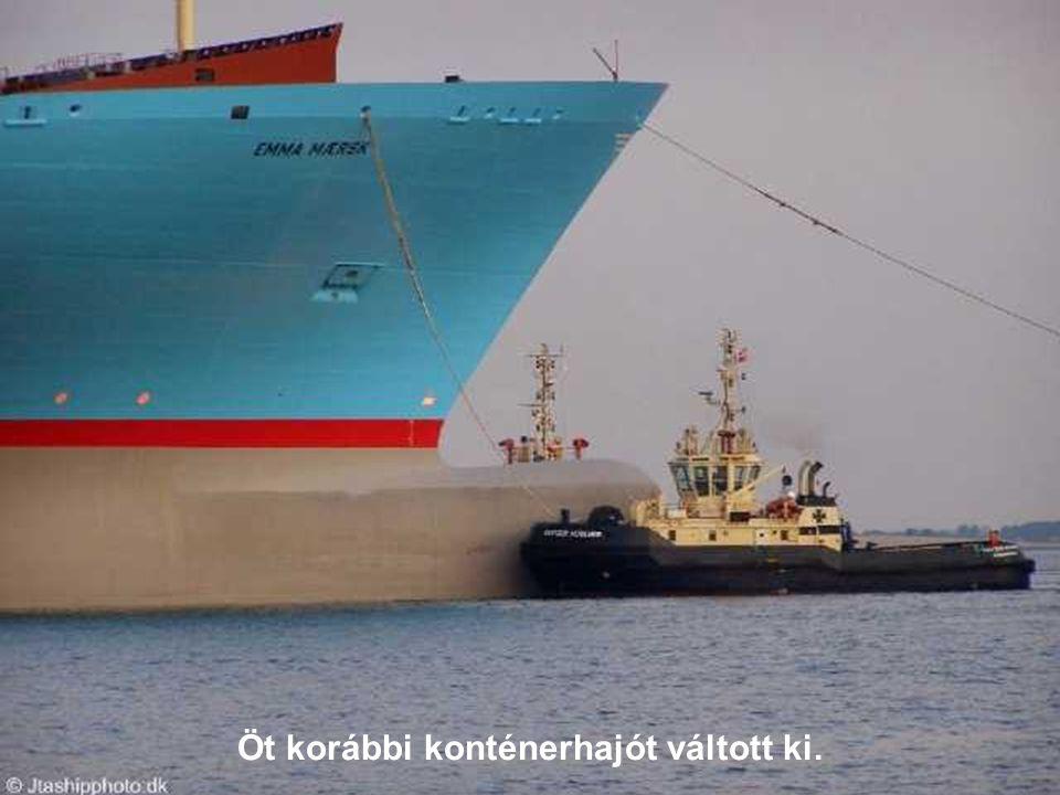 Öt korábbi konténerhajót váltott ki.