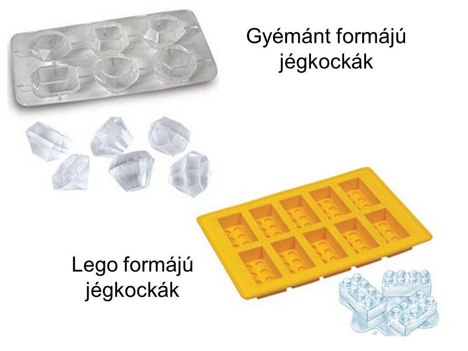 Gyémánt formájú jégkockák Lego formájú jégkockák