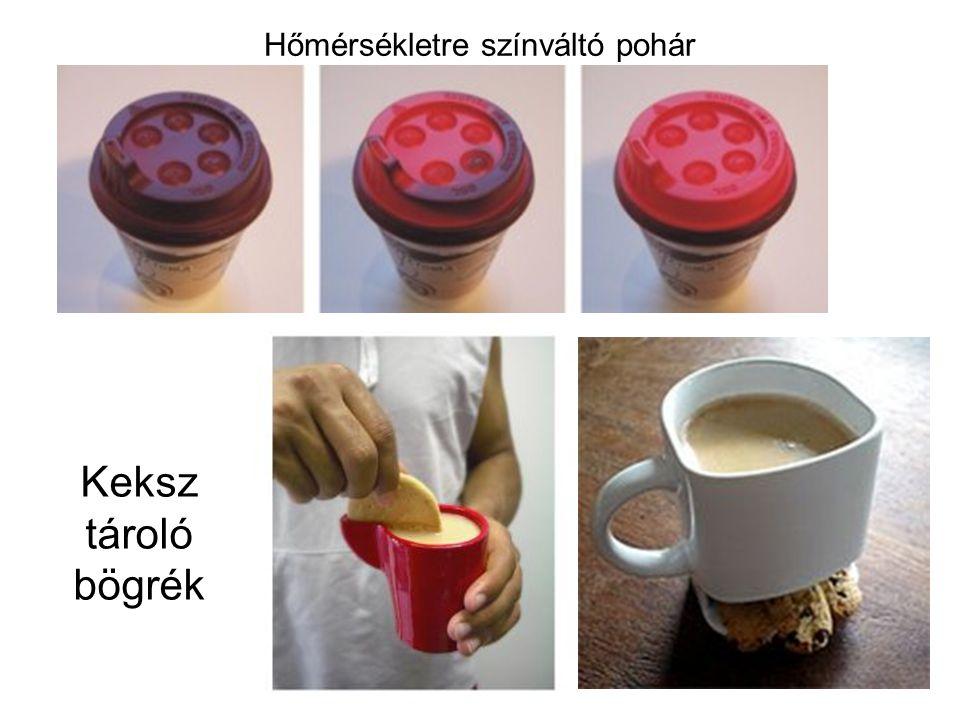 Keksz tároló bögrék Hőmérsékletre színváltó pohár