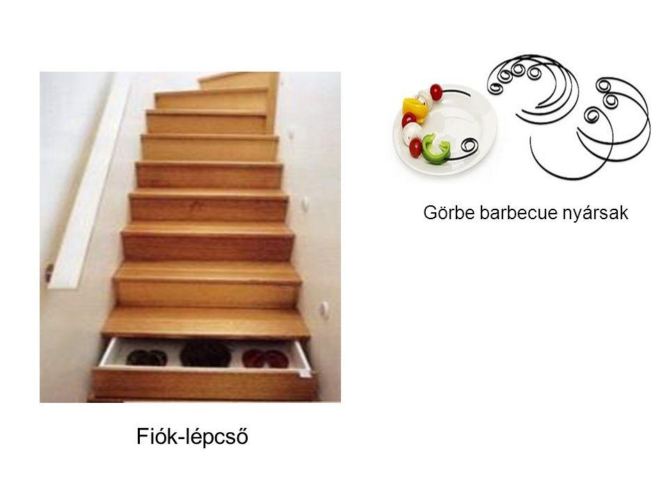 Fiók-lépcső Görbe barbecue nyársak