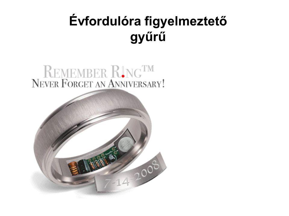 Évfordulóra figyelmeztető gyűrű