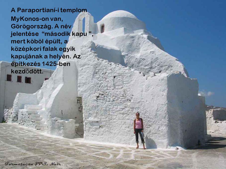 Göreme, Capadócia-i város, Törökország. Szerkezetileg a templomot a sziklába vájták ki (a lágy szikla lávából származik). A régióban több, mint 100 ha