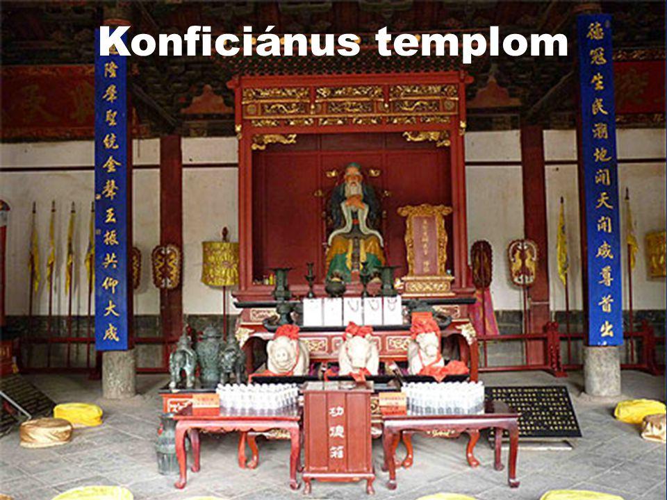 Konfucianizmus és Taoizmus  230 millió hívő  A világ népességének 3,4 %  Gyakorolják :  Kína
