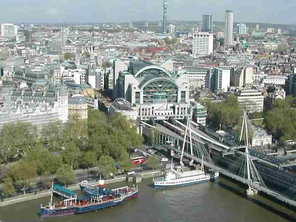 A Millenniumi kerék előtt van a Westminster. A kerék a legmagasabb Európában: 135 méter. Felépítése hasonlít a kerékpáréhoz, melynek sugárnyalábjai tá