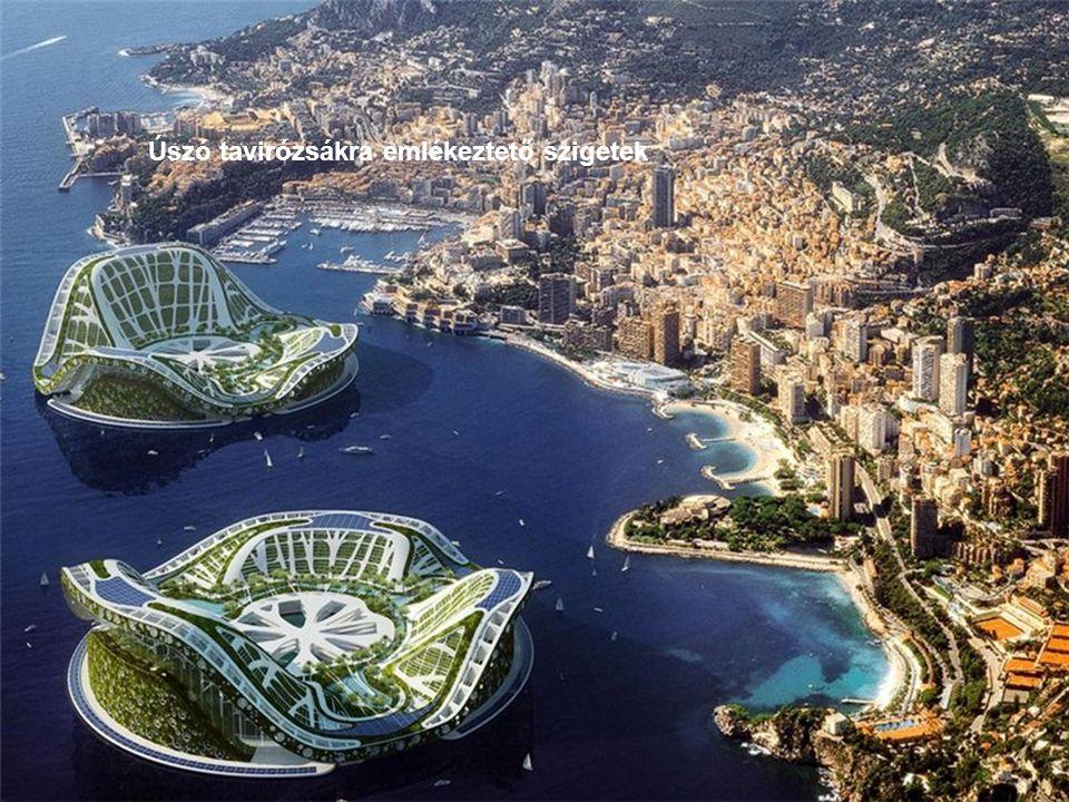 Úszó tavirózsákra emlékeztető szigetek