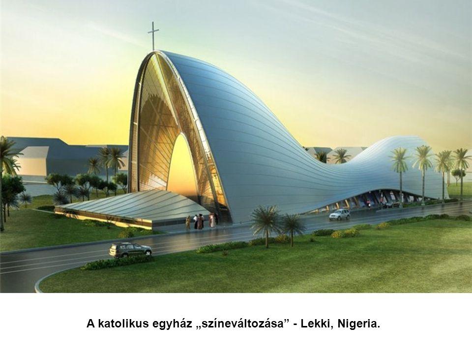 """A katolikus egyház """"színeváltozása"""" - Lekki, Nigeria."""