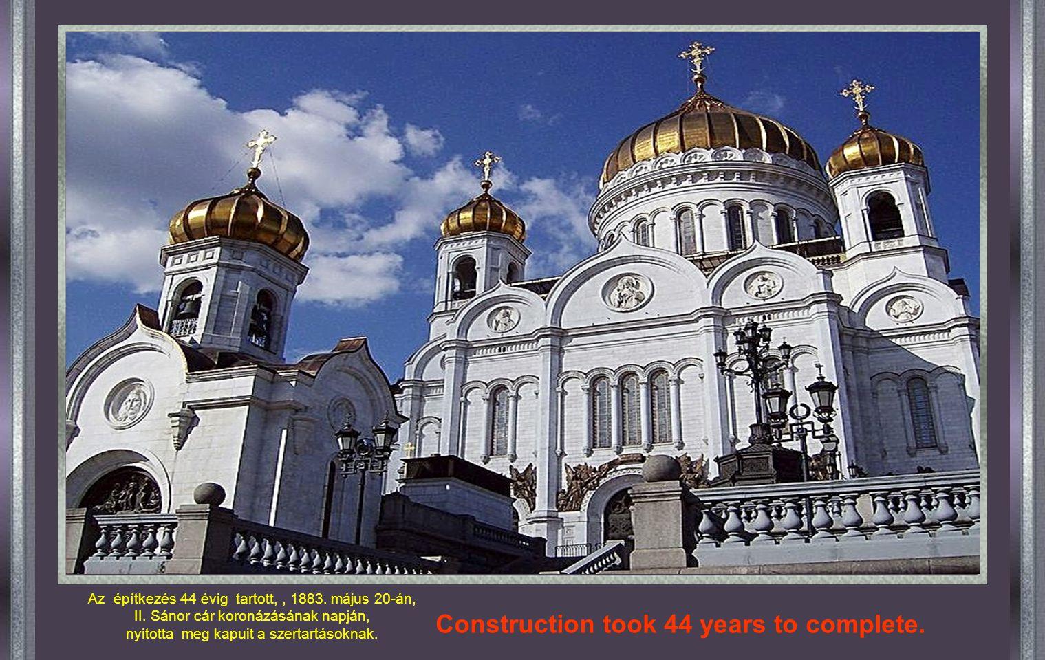 """MOSzkva MEGVÁLTÓ KRISZTUS Székesegyház 1812-ben, amikor a francia csapatokat kiűzték Oroszországból, I. Sándor cár építtetett egy templomot """"Megváltó"""