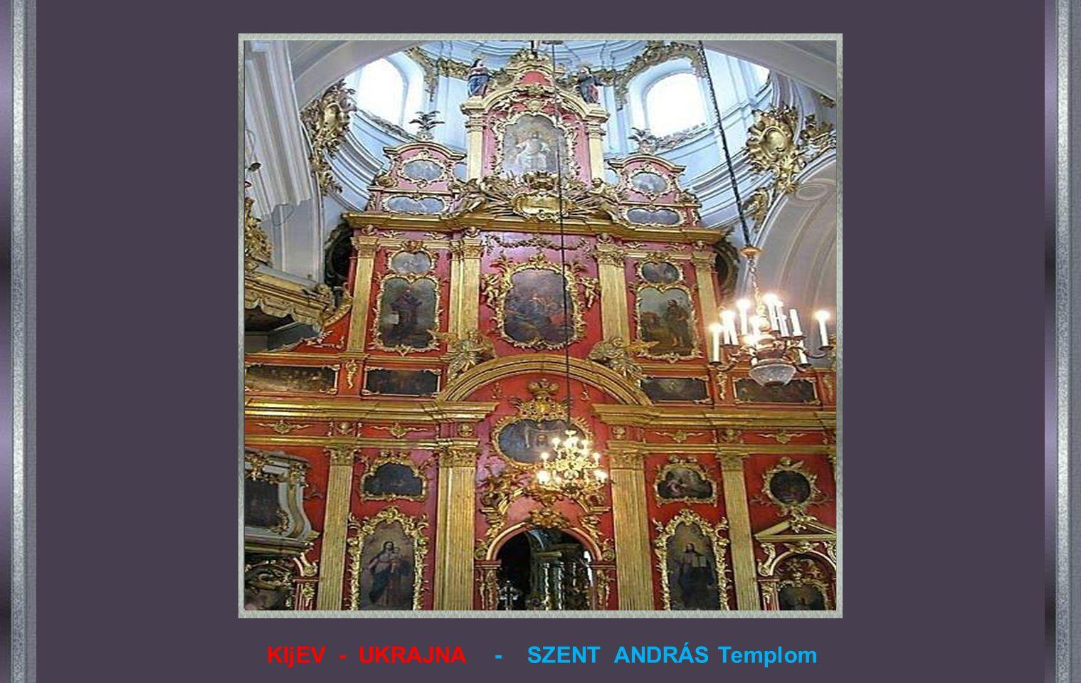 KIjEV - UKRAJNA - SZENT ANDRÁS Templom