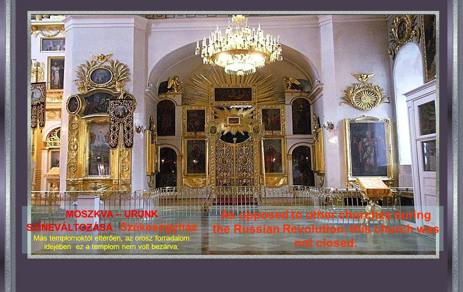 MOSZKVA - SZENT LAJOS Székesegyház