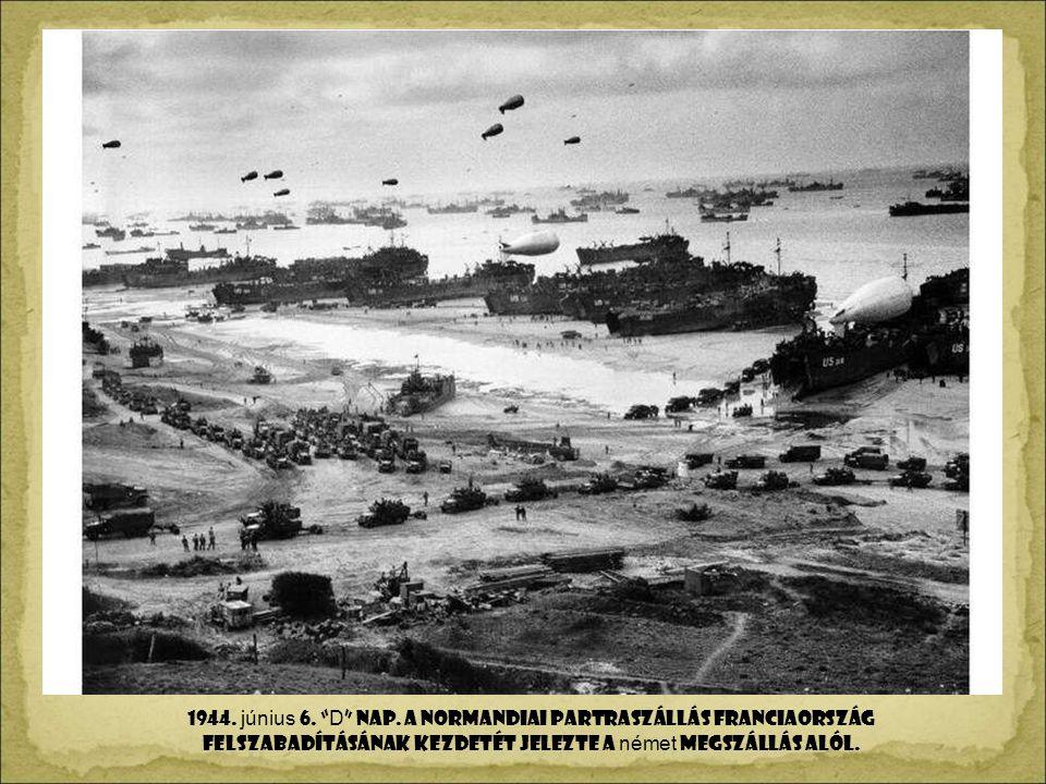 1943. NOVEMBER 28. S Z T Á LIN, ROOS E VELT és CHURCHILL A TEHERÁNI KONFERENC ÁN.