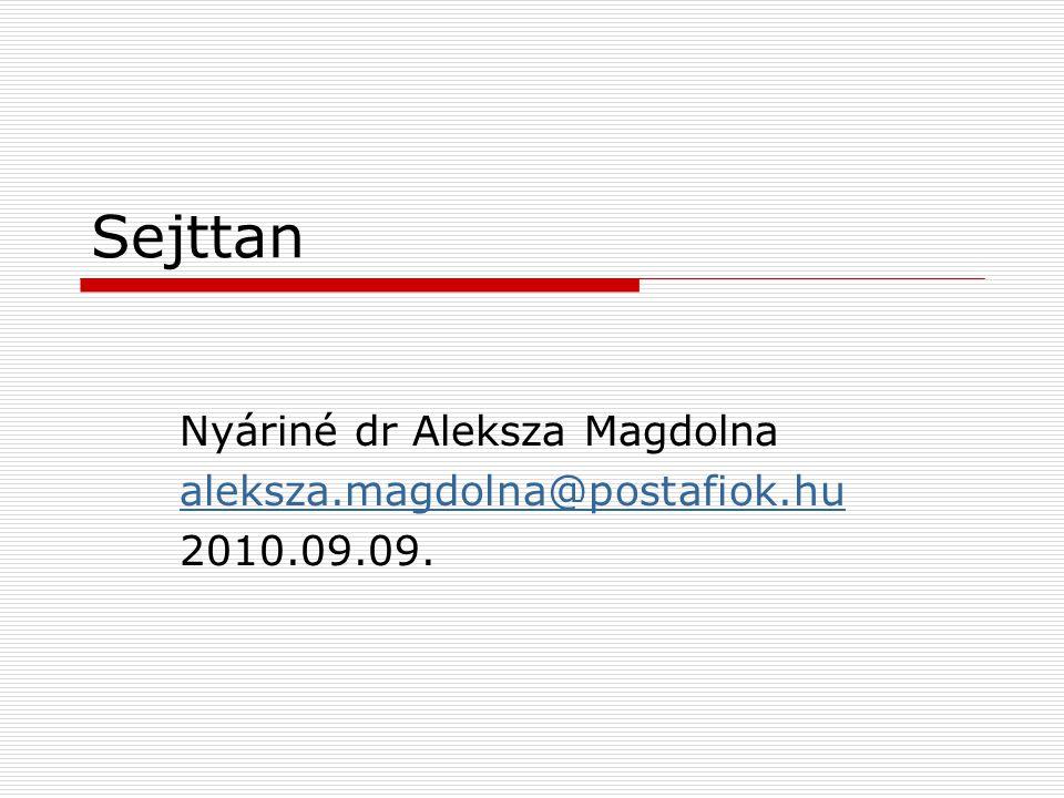 Sejttan Nyáriné dr Aleksza Magdolna aleksza.magdolna@postafiok.huleksza.magdolna@postafiok.hu 2010.09.09.