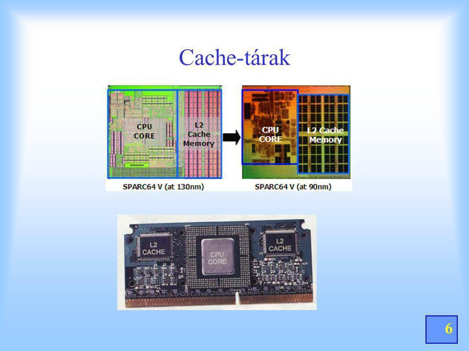 7 CACHE-TÁR 14.Miért alkalmaznak cache-tárat, és miért hívják gyorsító tárnak a cache-tárat.