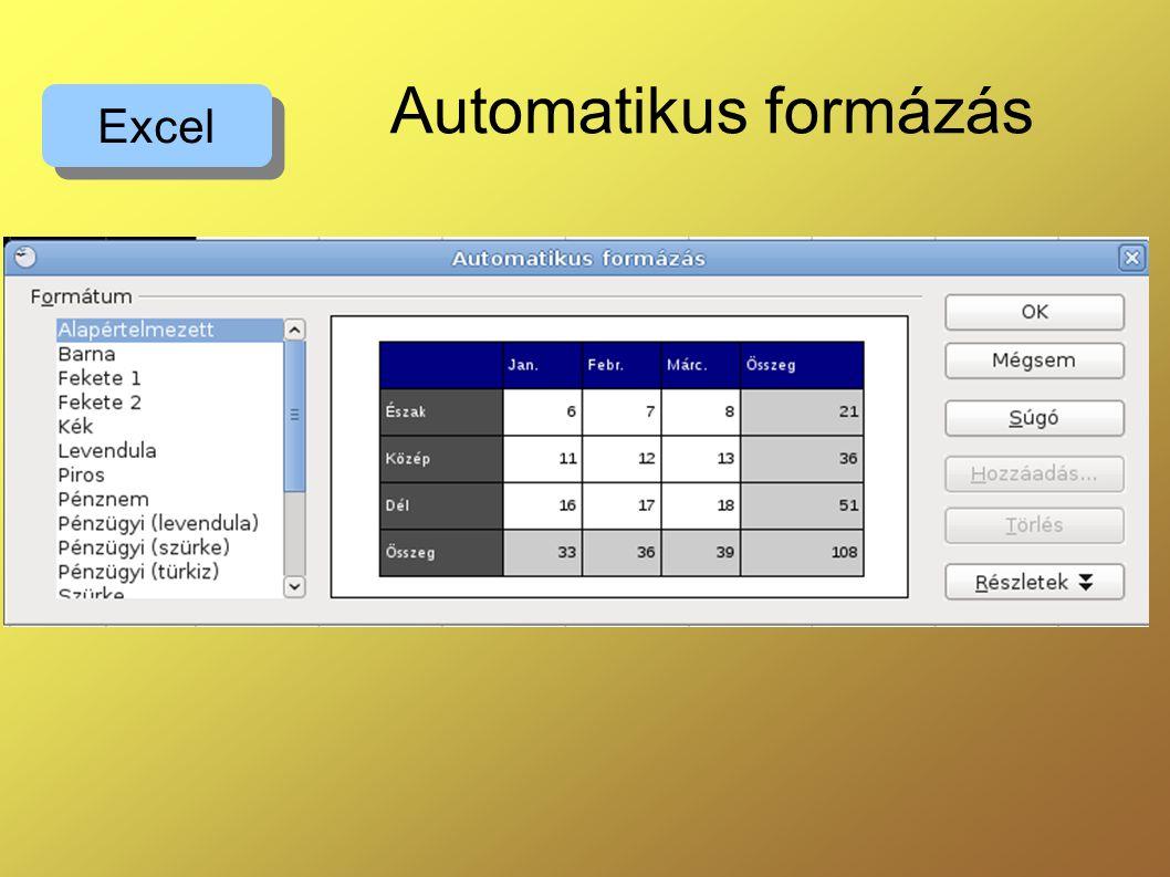 Automatikus formázás Excel