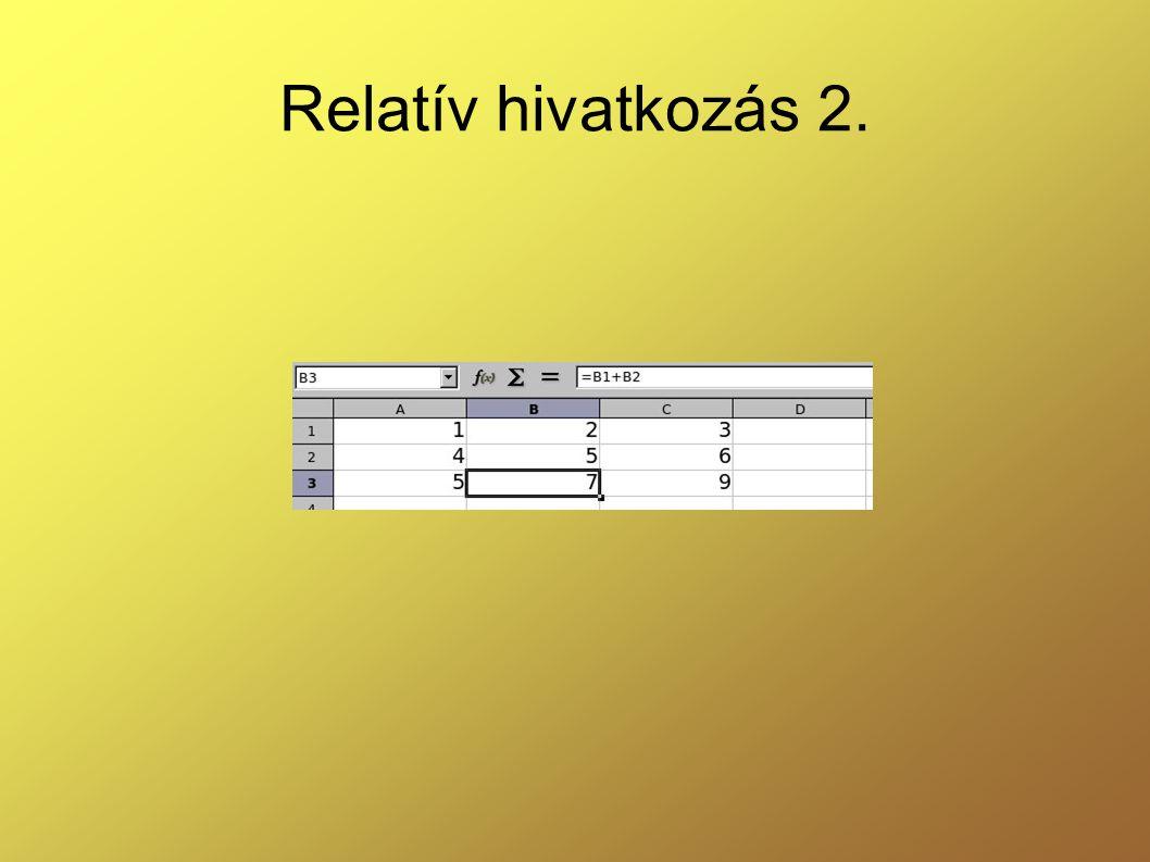 Relatív hivatkozás 2.