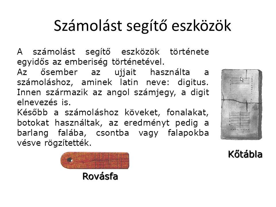 KIPU A számoló kövek, bemetszett botok, csontok a legkorábbi eszközök, melyeket az ásatások során felleltek.