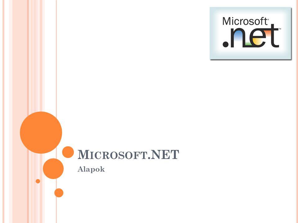 B ASE C LASS L IBRARY A második réteg tartalmazza a dotNet API nagyobb részét.