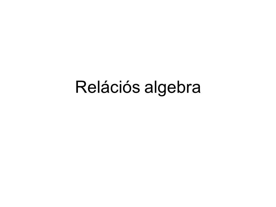 Relációs algebra