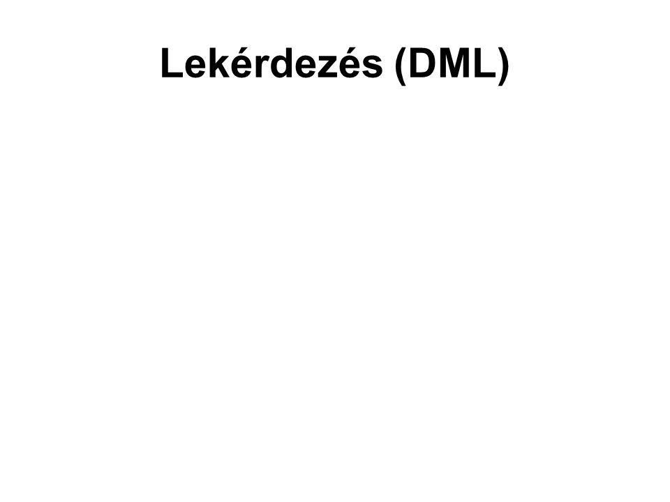 Lekérdezés (DML)