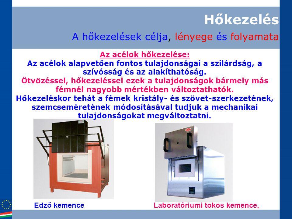 Hőkezelés A hőkezelések célja, lényege és folyamata Edző kemenceLaboratóriumi tokos kemence, Az acélok hőkezelése: Az acélok alapvetően fontos tulajdo
