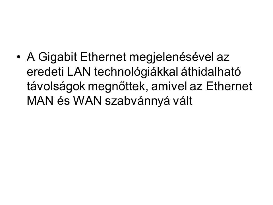 A Gigabit Ethernet megjelenésével az eredeti LAN technológiákkal áthidalható távolságok megnőttek, amivel az Ethernet MAN és WAN szabvánnyá vált