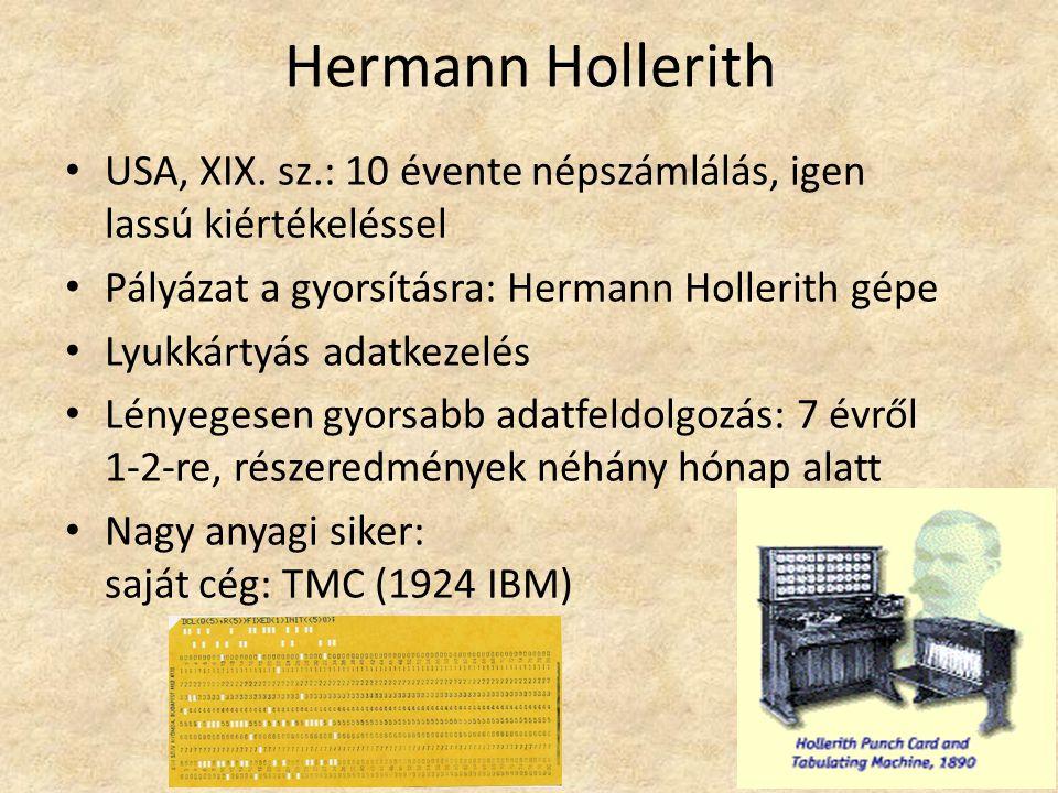 Hermann Hollerith USA, XIX.