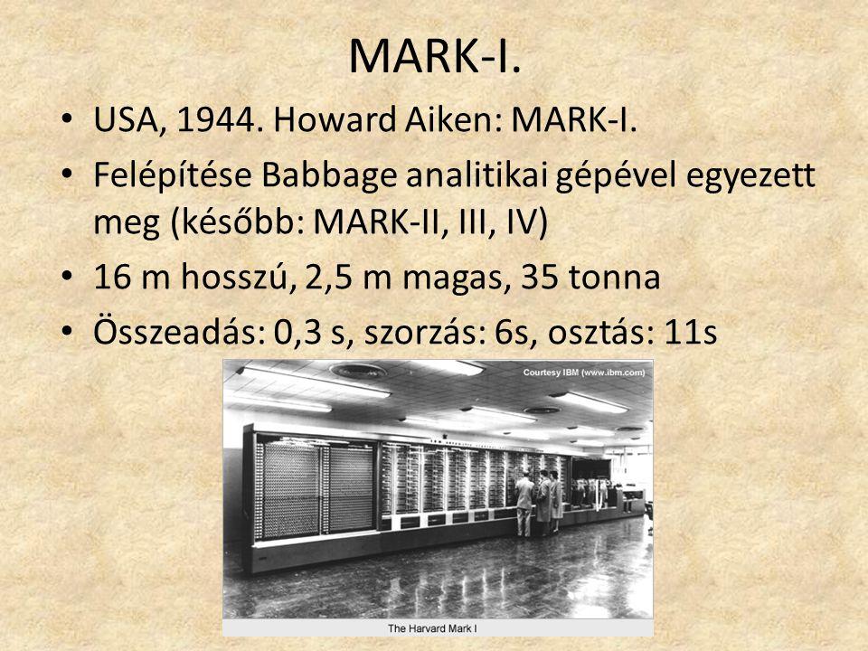 MARK-I.USA, 1944. Howard Aiken: MARK-I.