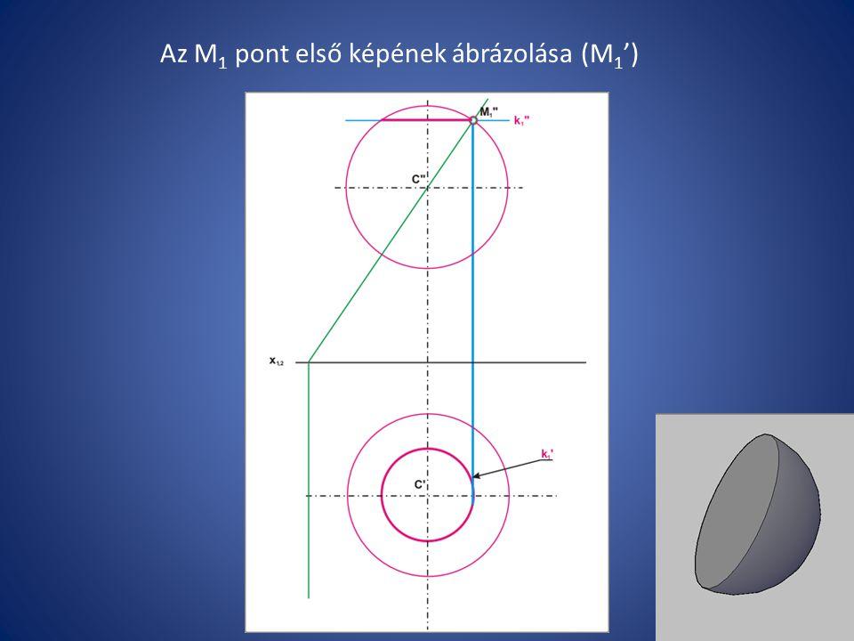 Az M 1 pont első képének ábrázolása (M 1 ')