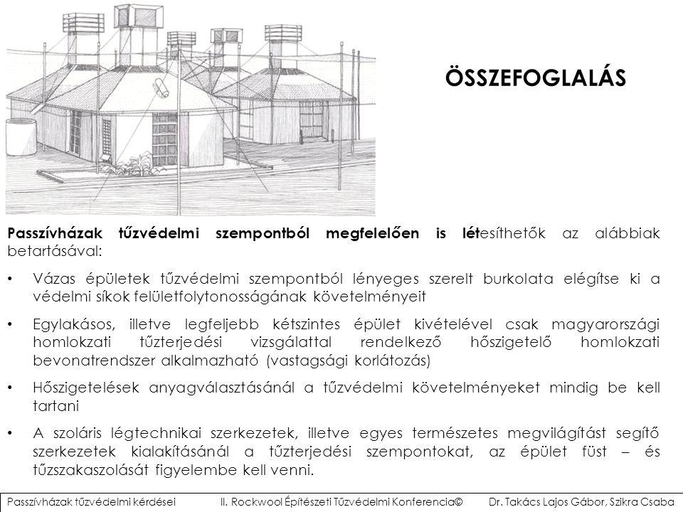 ÖSSZEFOGLALÁS Passzívházak tűzvédelmi szempontból megfelelően is lét esíthetők az alábbiak betartásával: Vázas épületek tűzvédelmi szempontból lényege