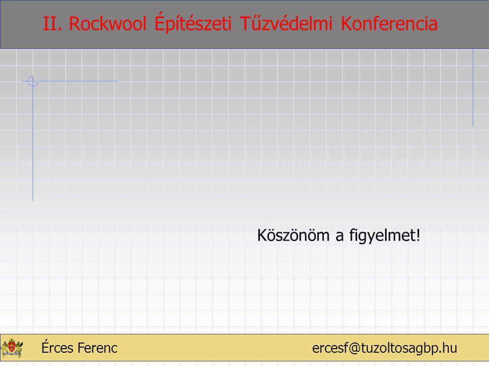 ÉRCES FERENC2011.02.17.60 Köszönöm a figyelmet! Érces Ferenc ercesf@tuzoltosagbp.hu II. Rockwool Építészeti Tűzvédelmi Konferencia