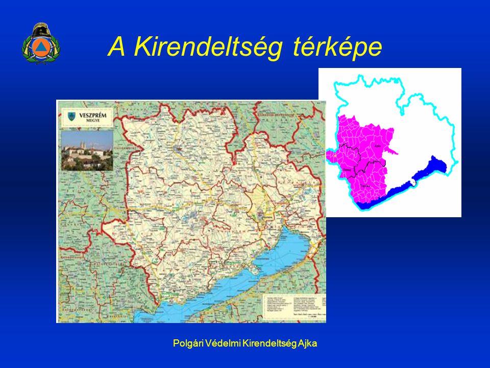 Polgári Védelmi Kirendeltség Ajka A Kirendeltség térképe
